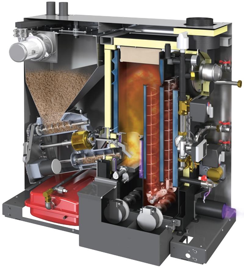 Biomasse-Pelletskessel
